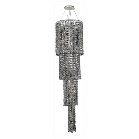 Elegant Lighting Royal Cut Grey Silver Shade Crystal Maxim 18-Light