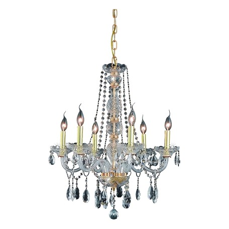 Elegant Lighting Royal Cut Clear Crystal Verona 6-Light