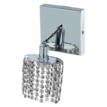 Clear Crystal Wall Sconces : Elegant Lighting Swarovski Spectra Clear Crystal Mini 1-Light Crystal Wall Sconce Chrome 1281W-S ...