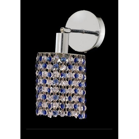 Elegant Bathroom Sconce Chrome Chrome 1381W-R-E-SA/SS From Mini Collection