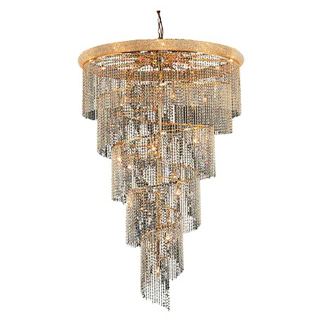 Elegant Lighting Elegant Cut Clear Crystal Spiral 29-Light