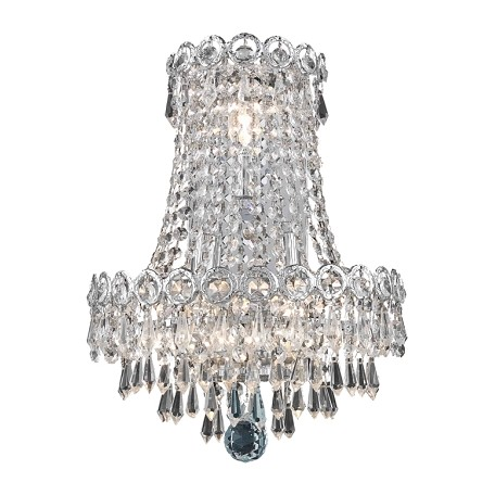 Elegant Lighting Swarovski Elements Clear Crystal Century 3-Light Crystal Wall Sconce