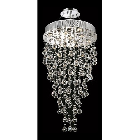 Elegant Royal Cut Clear Crystal Galaxy 9-Light Led