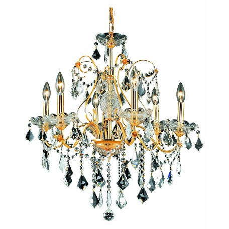 Elegant Lighting Swarovski Elements Clear Crystal St. Francis 6-Light