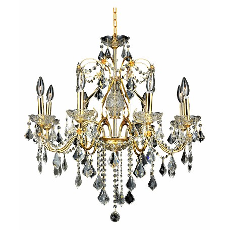 Elegant Lighting Swarovski Elements Clear Crystal St. Francis 8-Light