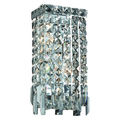 Elegant Lighting Swarovski Elements Clear Crystal Maxim 2-Light Crystal Wall Sconce