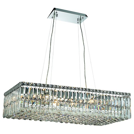 Elegant Lighting Elegant Cut Clear Crystal Maxim 16-Light Crystal Pendant