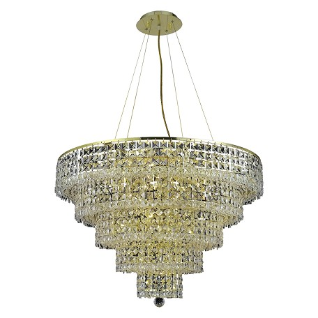 Elegant Lighting Elegant Cut Clear Crystal Maxim 17-Light