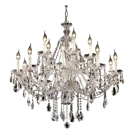 Elegant Lighting Elegant Cut Clear Crystal Alexandria 15-Light
