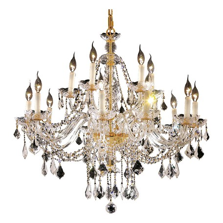 Elegant Lighting Elegant Cut Clear Crystal Alexandria 12-Light