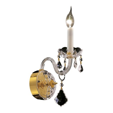 Elegant Lighting Swarovski Spectra Clear Crystal Alexandria 1-Light Crystal Wall Sconce
