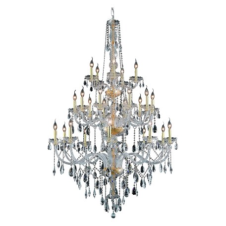Elegant Lighting Elegant Cut Clear Crystal Verona 25-Light