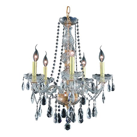 Elegant Lighting Swarovski Spectra Clear Crystal Verona 5-Light