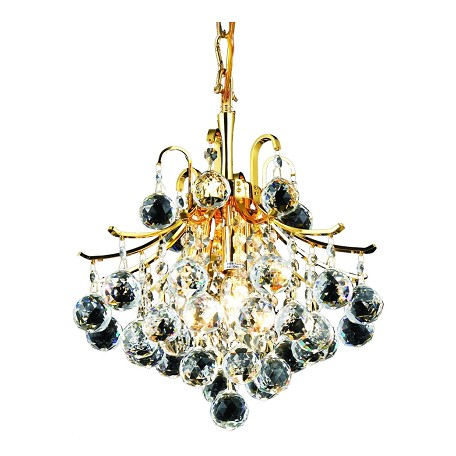Elegant Lighting Elegant Cut Clear Crystal Toureg 3-Light Crystal Pendant