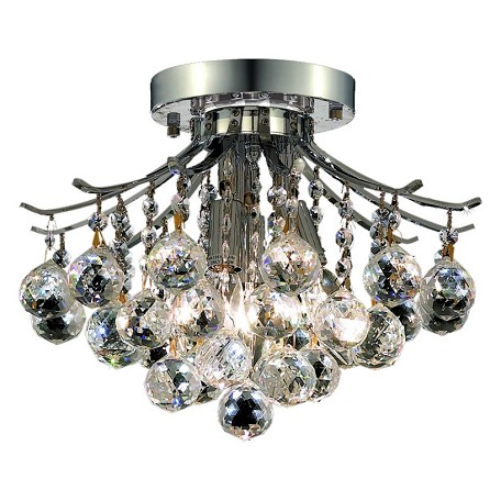 Elegant Lighting Swarovski Spectra Clear Crystal Toureg 3-Light