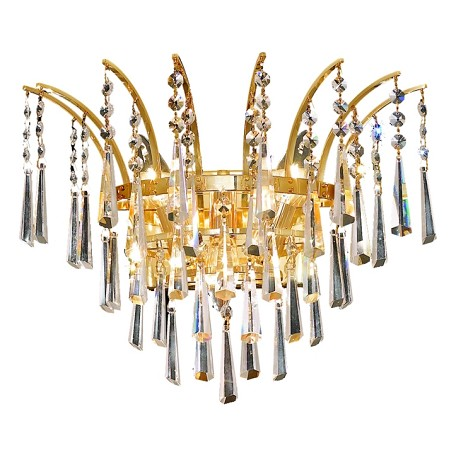 Elegant Lighting Swarovski Spectra Clear Crystal Victoria 3-Light Crystal Wall Sconce