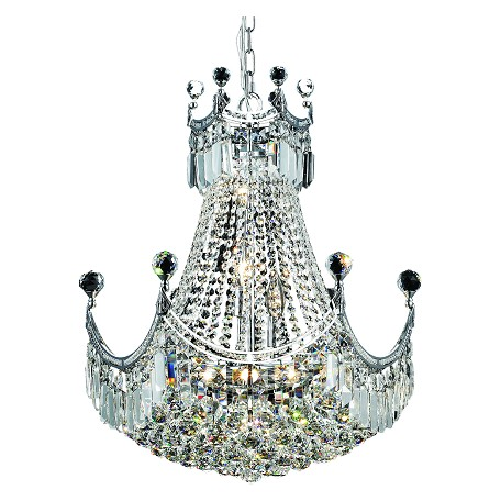 Elegant Lighting Swarovski Elements Clear Crystal Corona 9-Light