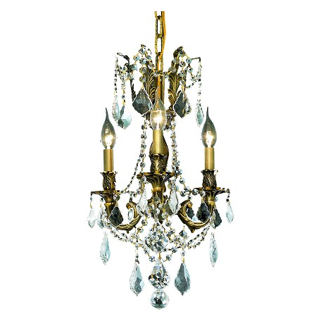 Elegant Lighting Elegant Cut Clear Crystal Rosalia 3-Light