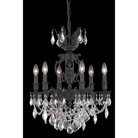 Elegant Lighting Swarovski Elements Clear Crystal Marseille 6-Light