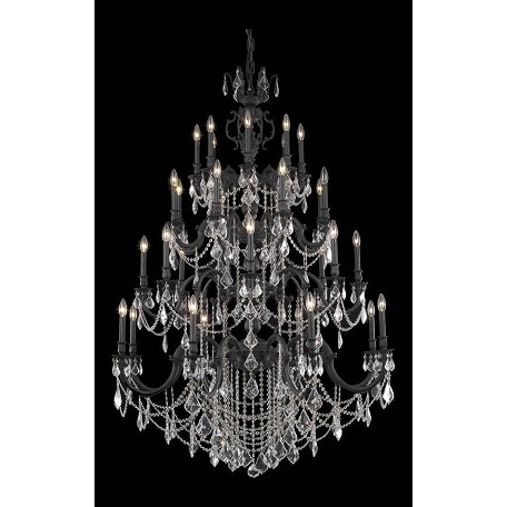 Elegant Lighting 32 Light Chandelier In Dark Bronze Finish