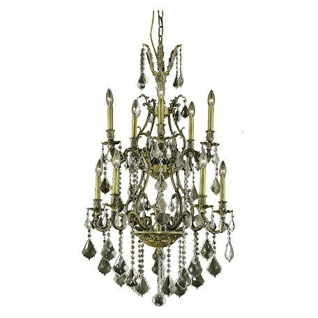 Elegant Lighting Swarovski Elements Clear Crystal Monarch 10-Light