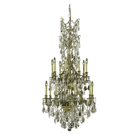 Elegant Lighting Swarovski Spectra Clear Crystal Monarch 16-Light