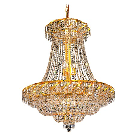 Elegant Lighting Swarovski Spectra Clear Crystal Belenus 18-Light