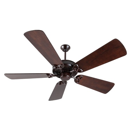 "Craftmade American Tradition Ceiling Fan With Five 54"" Premier Distressed, Oiled Bronze"