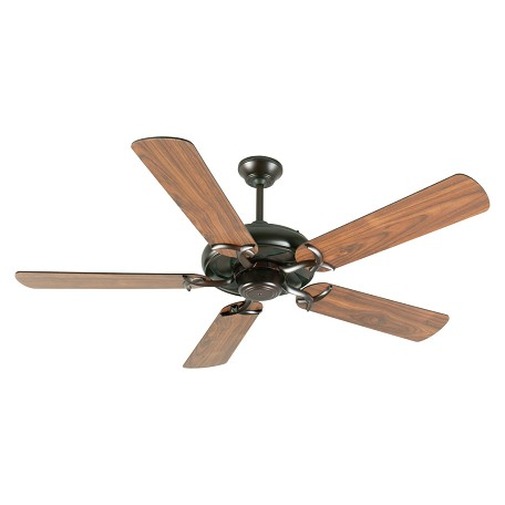 "Craftmade Ivic Ceiling Fan With Five 52"" Plus Series Walnut Blades, Oiled Bronze"