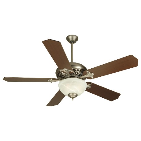 Craftmade Pewter Mia 52in. 5 Blade Indoor Ceiling Fan - Blades and Light Kit Included
