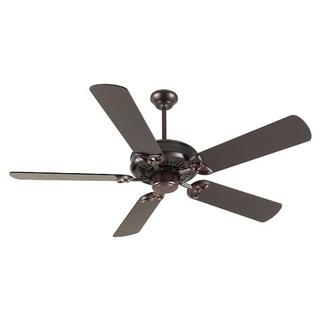 "Craftmade American Tradition Ceiling Fan With Five 52"" Plus Series Oiled, Oiled Bronze"