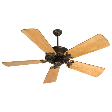 "Craftmade Residential Ii Indoor Ceiling Fan With Five 54"" Premier Distre, Oiled Bronze"