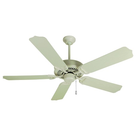 Craftmade Antique White Porch Fan 52in. 5 Blade Indoor Ceiling Fan - Blades Included