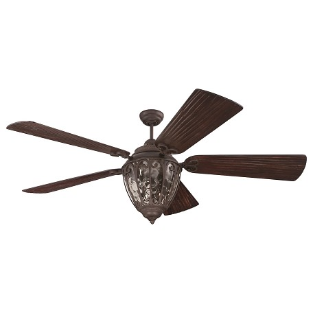 "Craftmade Olivier Indoor Ceiling Fan With Five 70"" Premier Hand-Scraped W, Aged Bronze"