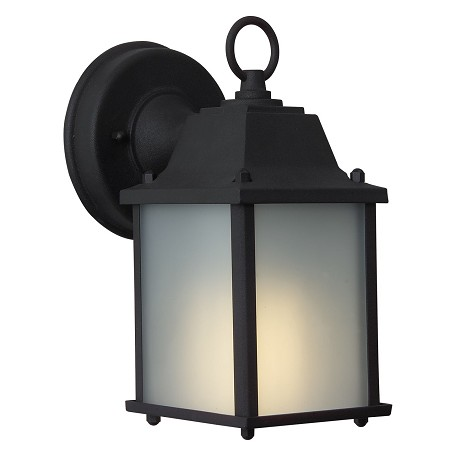 Craftmade Matte Black Coach Lights 1 Light Outdoor Wall Sconce - 4.53 Inches Wide