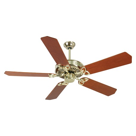 "Craftmade Cxl Ceiling Fan With Five 52"" Custom Wood Cherry Blades, Polished Brass"