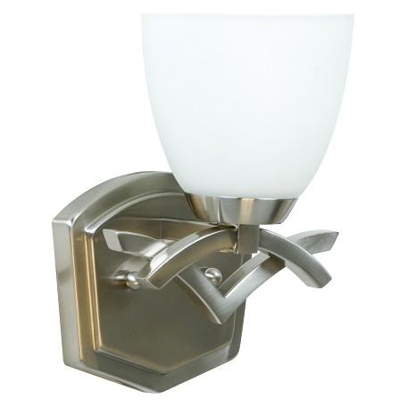 Craftmade Brushed Nickel Viewpoint 1 Light Bathroom Sconce 8 Inches Wide Nickel 14008bn1 From