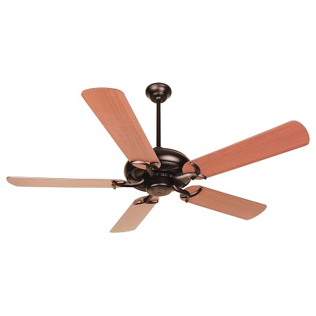 "Craftmade Civic Indoor Ceiling Fan With Five 52"" Plus Series Reversible C, Oiled Bronze"