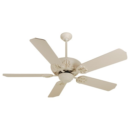 "Craftmade Cordova Ceiling Fan In Antique White With 52"" Standard Antique White Blades"