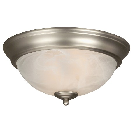 Craftmade Brushed Nickel 2 Light Energy Star Flush Mount Ceiling Fixture Nickel X211 Bn Nrg From