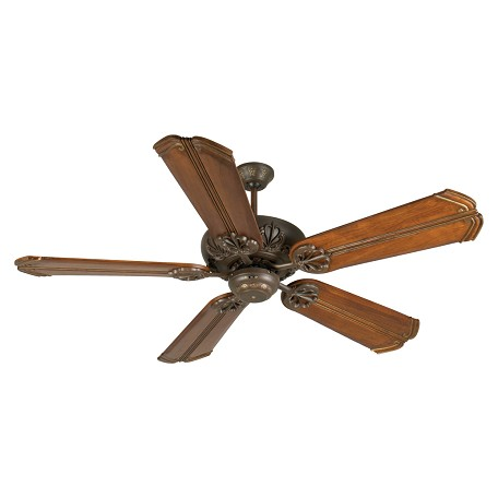 "Craftmade Aged Bronze Cordova Indoor Ceiling Fan With Five 56"" Chamberlain Oak Blades"