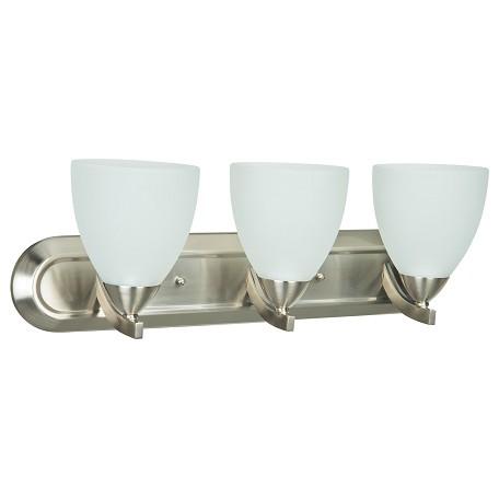 Vanity Lights Craftmade : Craftmade 3 Light Vanity Satin Nickel 37703-SN From Almeda Collection
