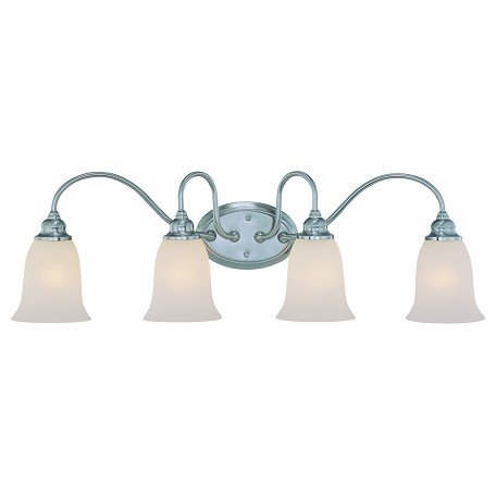 Craftmade Four Light Satin Nickel Vanity