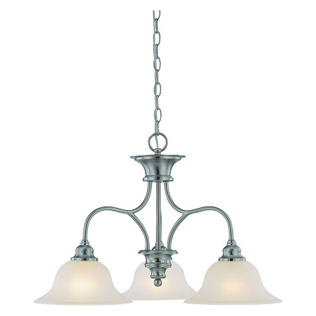Craftmade Three Light Satin Nickel Down Chandelier