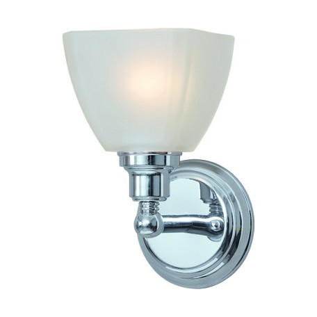 Craftmade one light chrome bathroom sconce chrome 26601 ch from bradley collection for One light bathroom wall sconce
