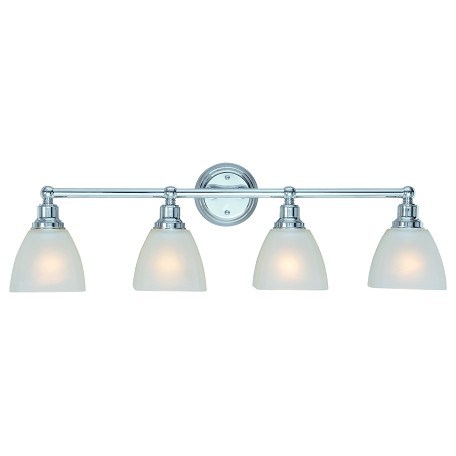 Craftmade Four Light Chrome Vanity Chrome 26604-CH From Bradley Collection