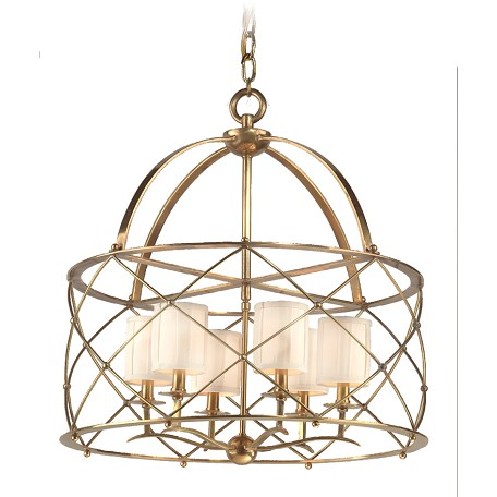 Corbett Aged Brass Chandelier from the Argyle Collection