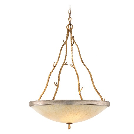 Corbett Gold / Silver Leaf Finish 5 Light Bowl Pendant from the Parc Royale Collection
