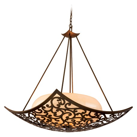 Corbett Four Light Tahitian Bronze Up Pendant