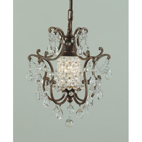 Feiss One Light British Bronze Up Mini Chandelier F1879 1brb